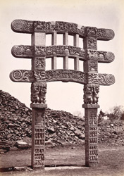 Small gate of ruined tope at Sanchi